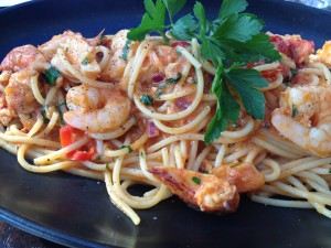 Lobster and prawn spaghetti