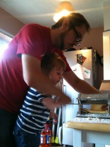 Pasta rolling with Poppa