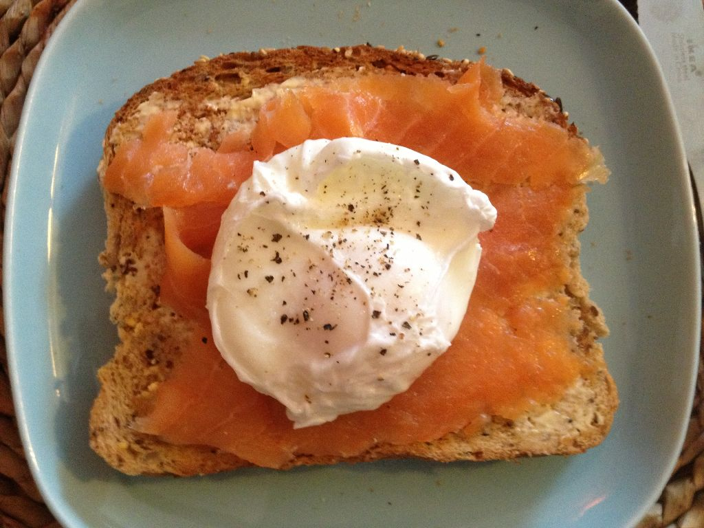 Smoked trout and poached egg