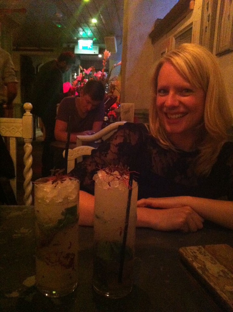 Laura enjoying The Botanist