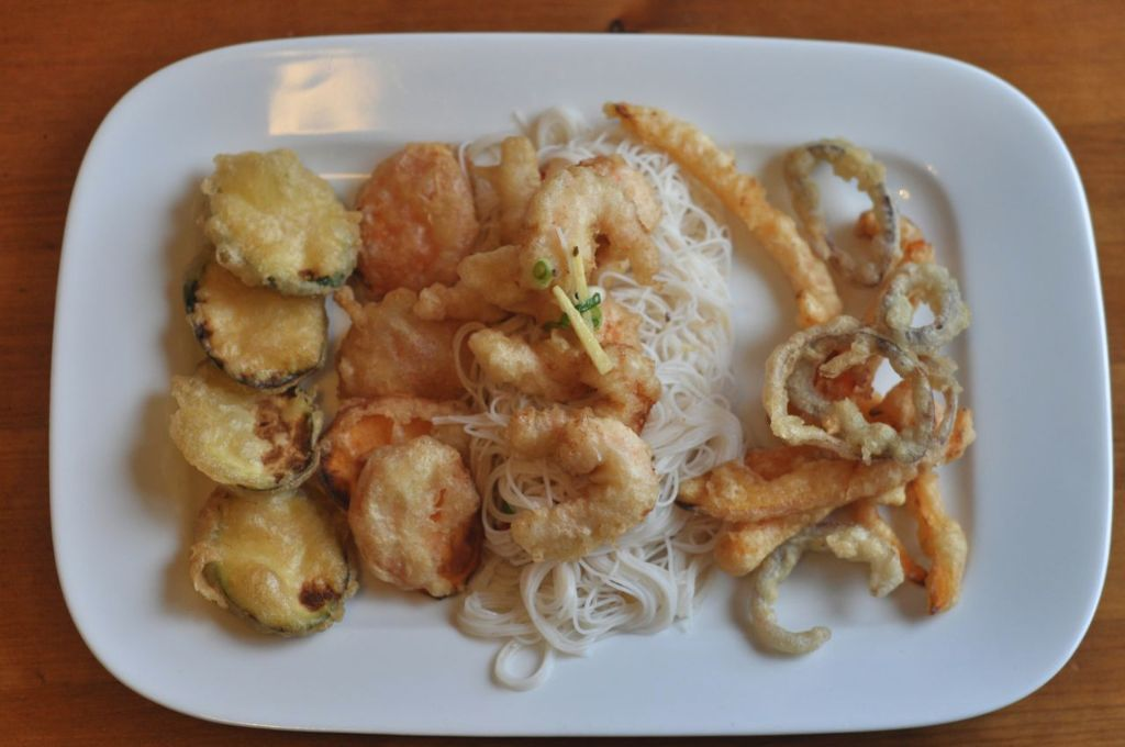 Veg & Prawn Tempura with a Noodle Salad