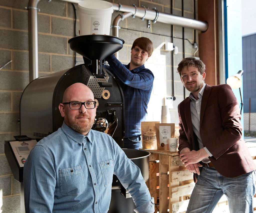 The Casa Espresso team, with their new roaster
