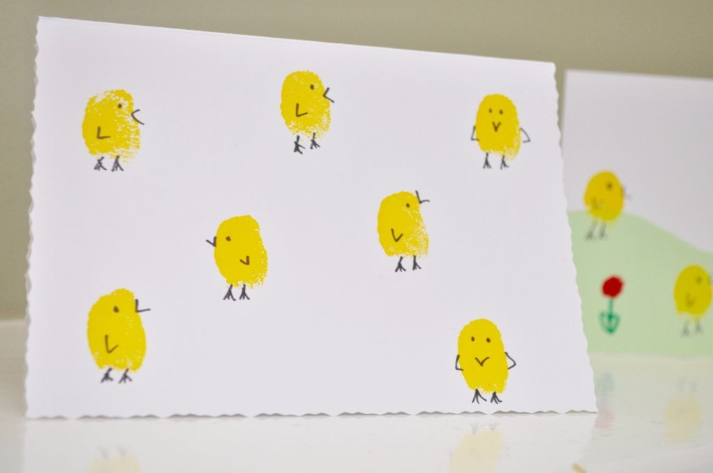 Fingerprint Easter Chicks