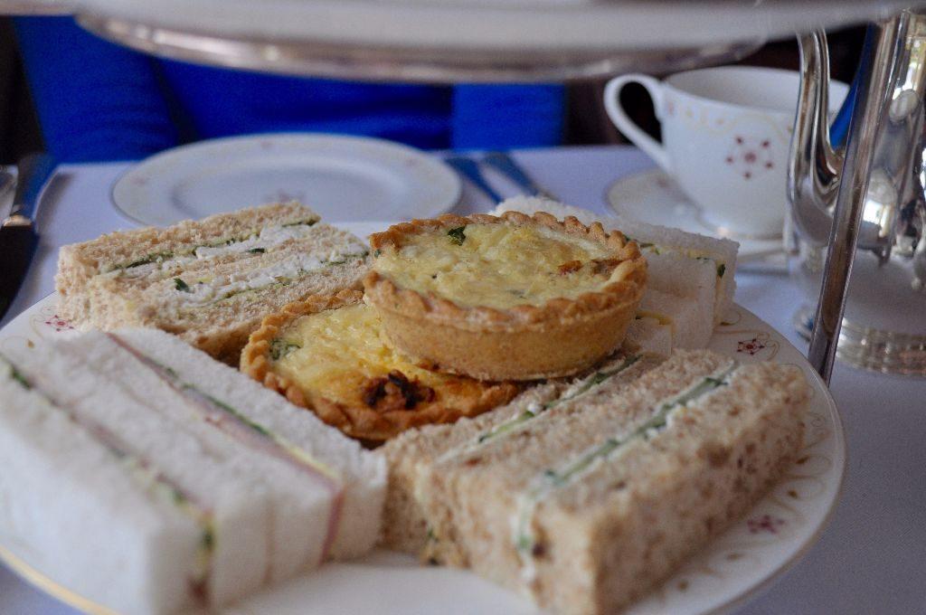 Sandwiches and quiche