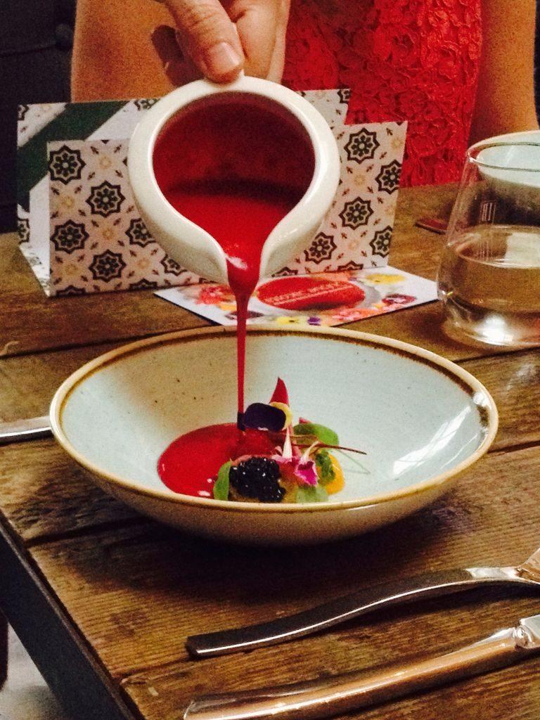 Red berries gazpacho